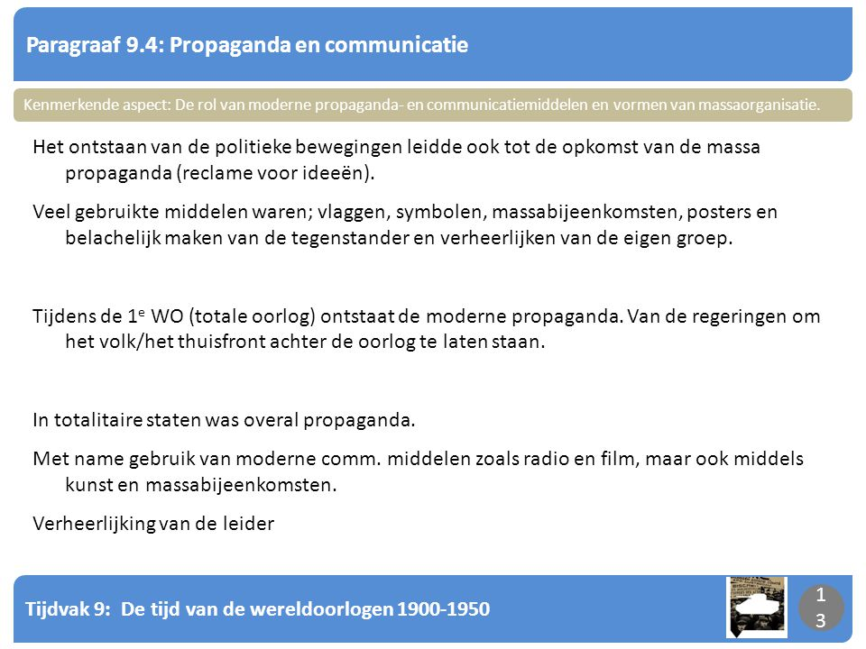 Paragraaf 9.4: Propaganda en communicatie