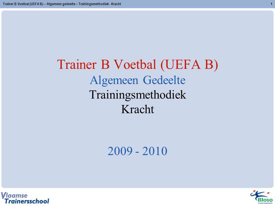 Trainer B Voetbal (UEFA B) Algemeen Gedeelte Trainingsmethodiek Kracht
