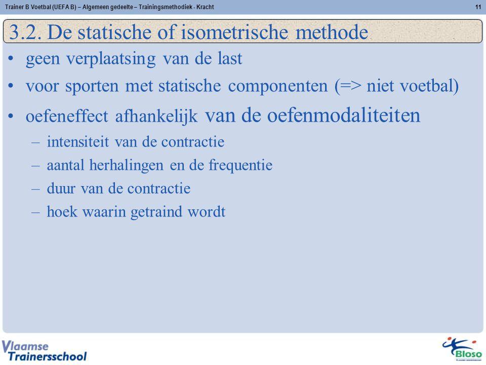 3.2. De statische of isometrische methode