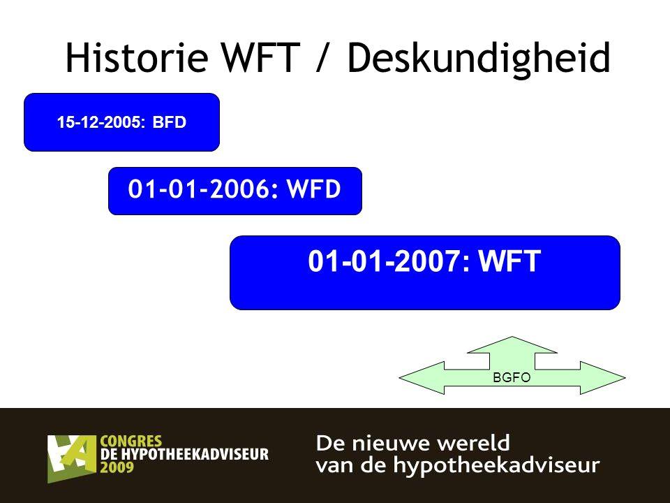 Historie WFT / Deskundigheid