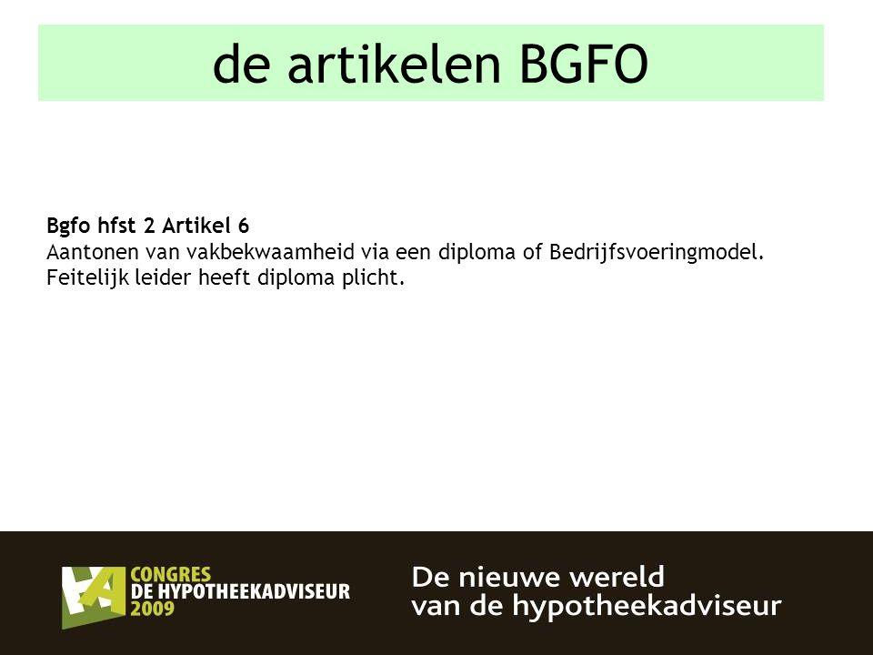 de artikelen BGFO Bgfo hfst 2 Artikel 6