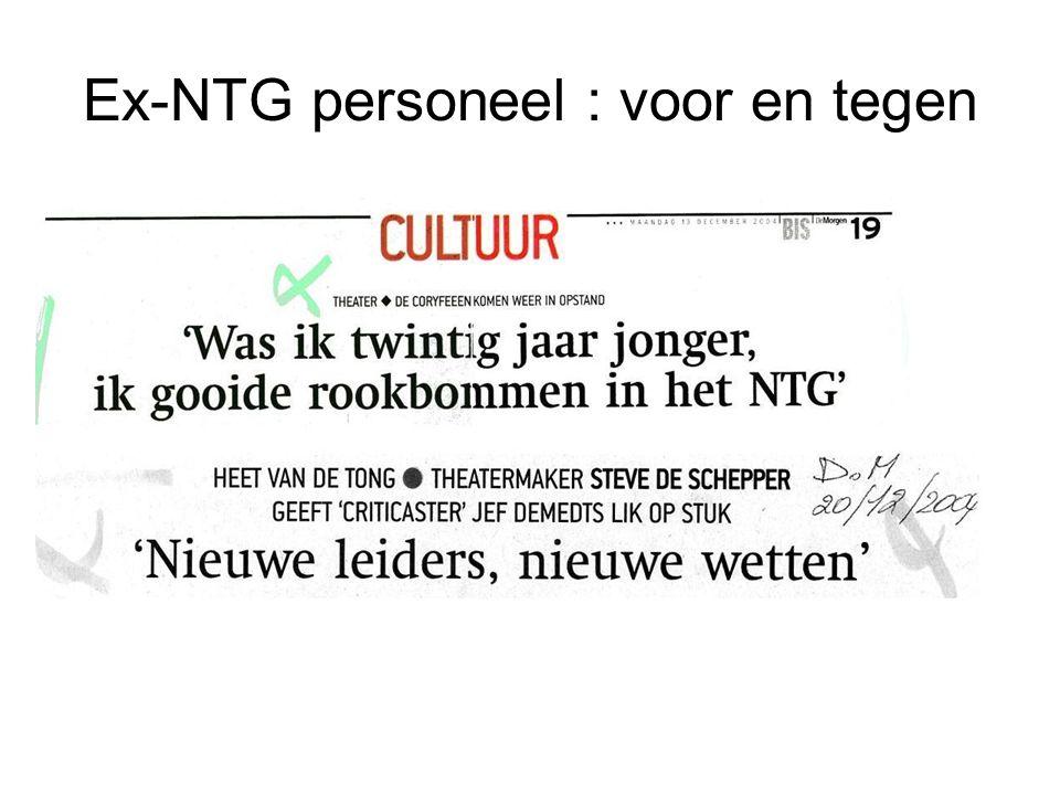 Ex-NTG personeel : voor en tegen
