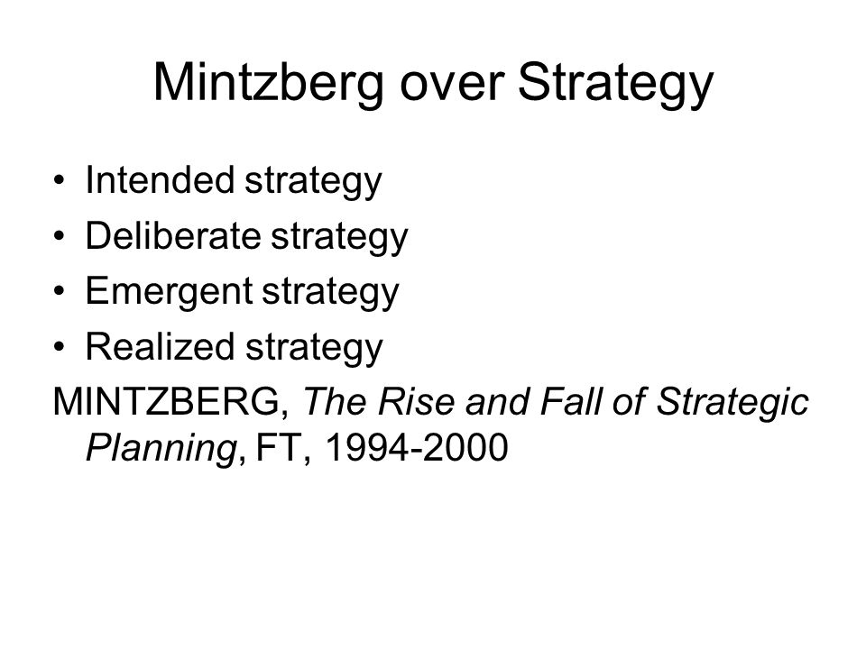 Mintzberg over Strategy
