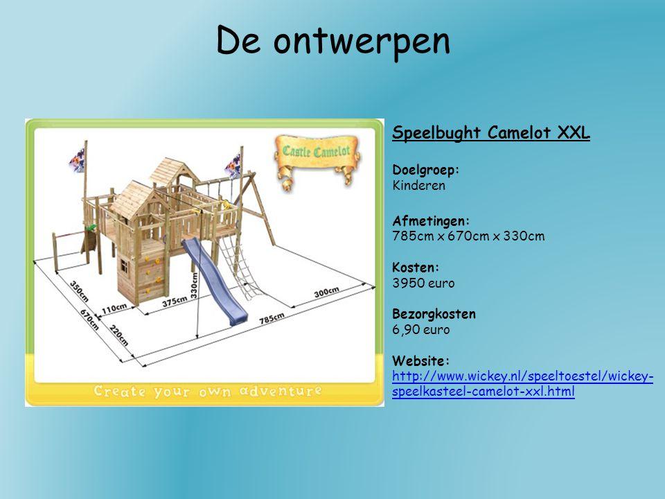De ontwerpen Speelbught Camelot XXL Doelgroep: Kinderen Afmetingen: