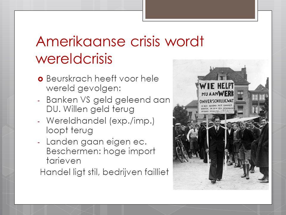 Amerikaanse crisis wordt wereldcrisis