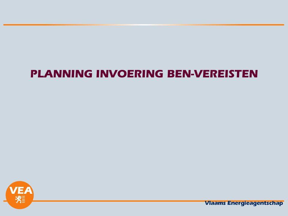 PLANNING INVOERING BEN-VEREISTEN