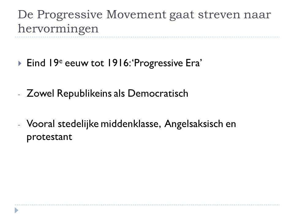 De Progressive Movement gaat streven naar hervormingen