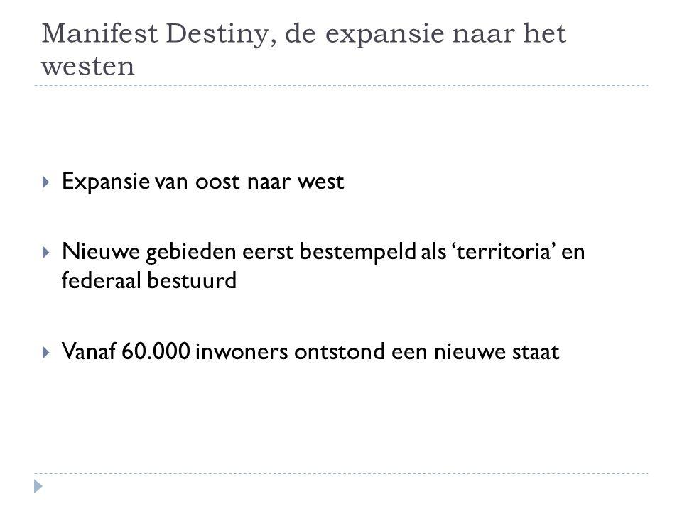 Manifest Destiny, de expansie naar het westen