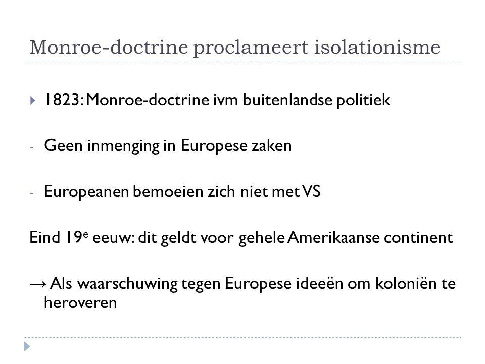 Monroe-doctrine proclameert isolationisme