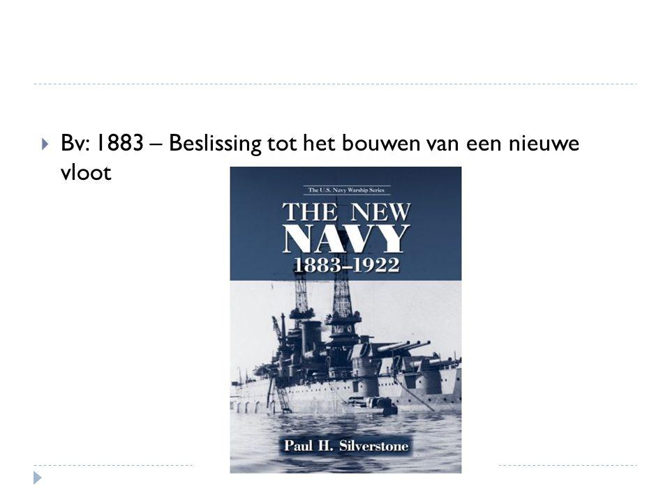 Bv: 1883 – Beslissing tot het bouwen van een nieuwe vloot