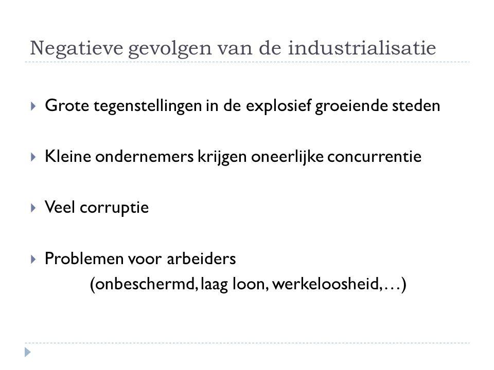 Negatieve gevolgen van de industrialisatie