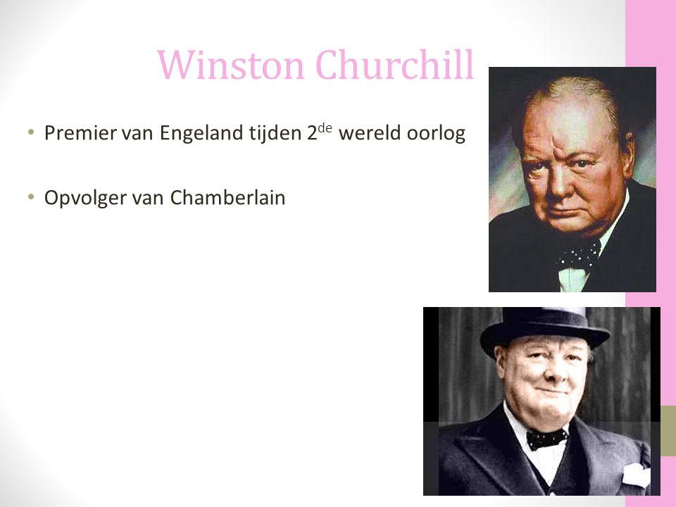Winston Churchill Premier van Engeland tijden 2de wereld oorlog