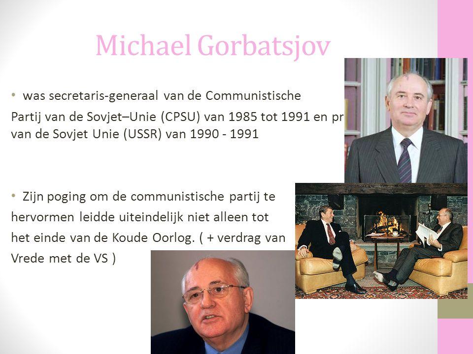 Michael Gorbatsjov was secretaris-generaal van de Communistische