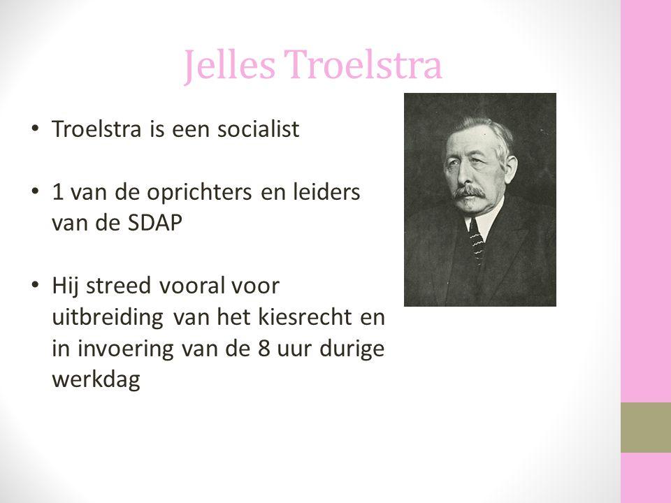 Jelles Troelstra Troelstra is een socialist