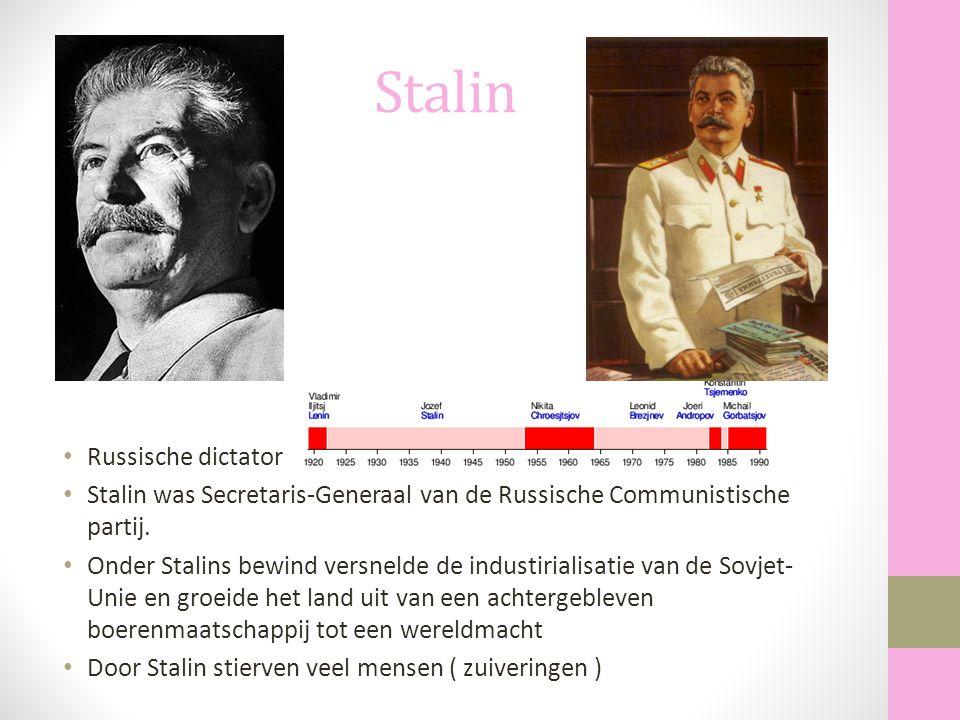 Stalin Russische dictator