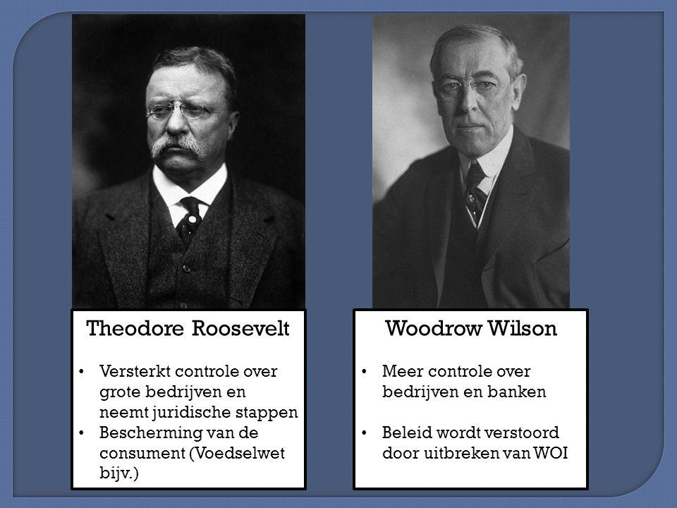 Theodore Roosevelt Woodrow Wilson