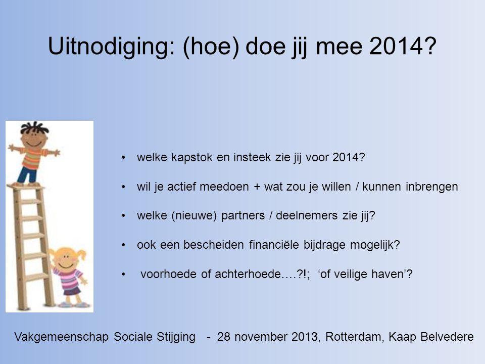 Uitnodiging: (hoe) doe jij mee 2014