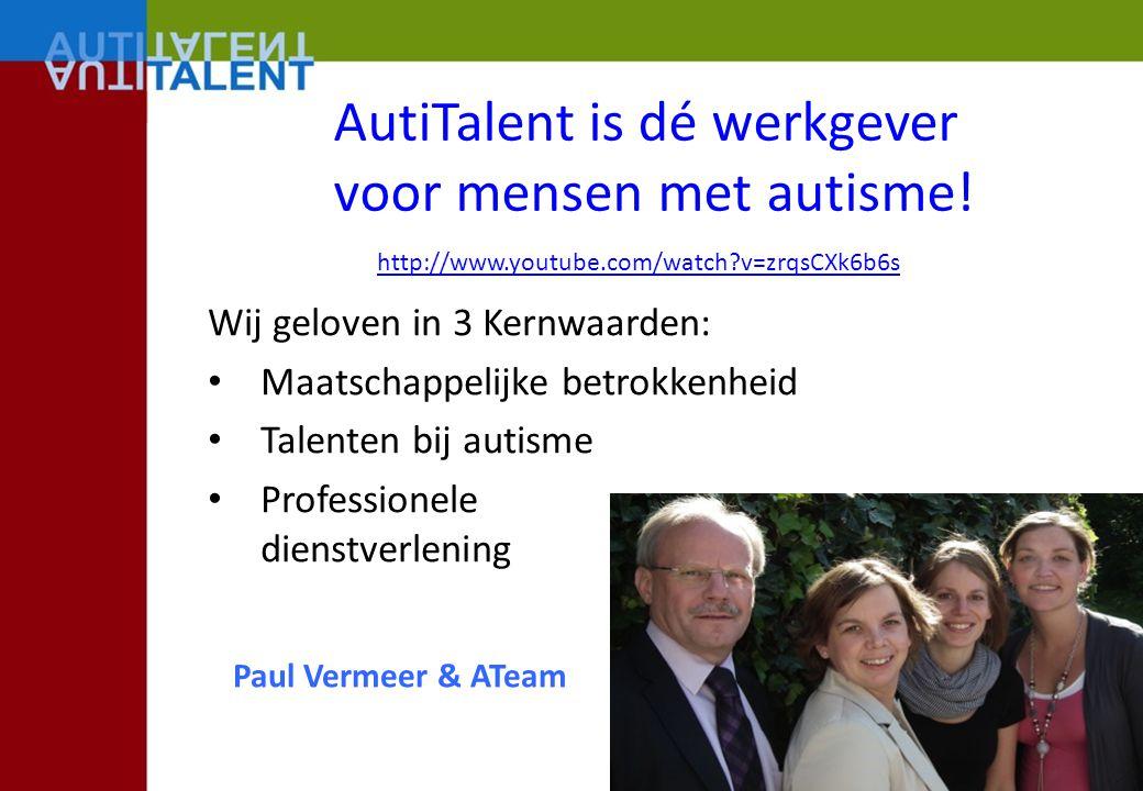AutiTalent is dé werkgever voor mensen met autisme!