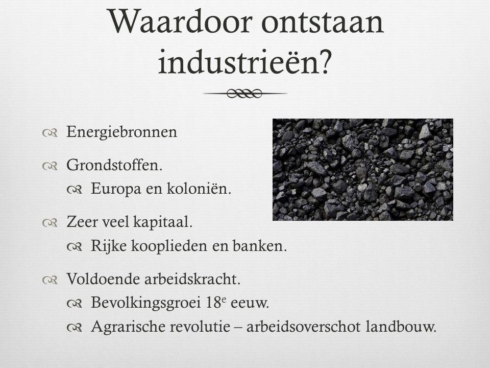 Waardoor ontstaan industrieën
