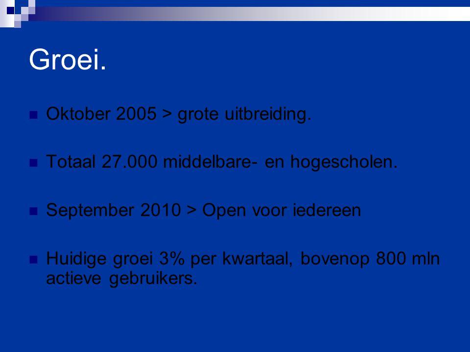 Groei. Oktober 2005 > grote uitbreiding.