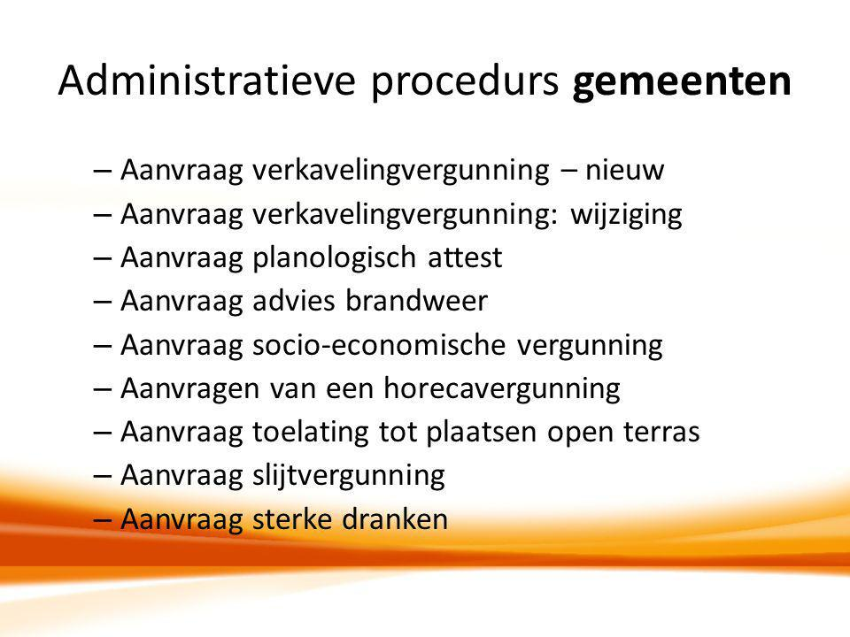 Administratieve procedurs gemeenten