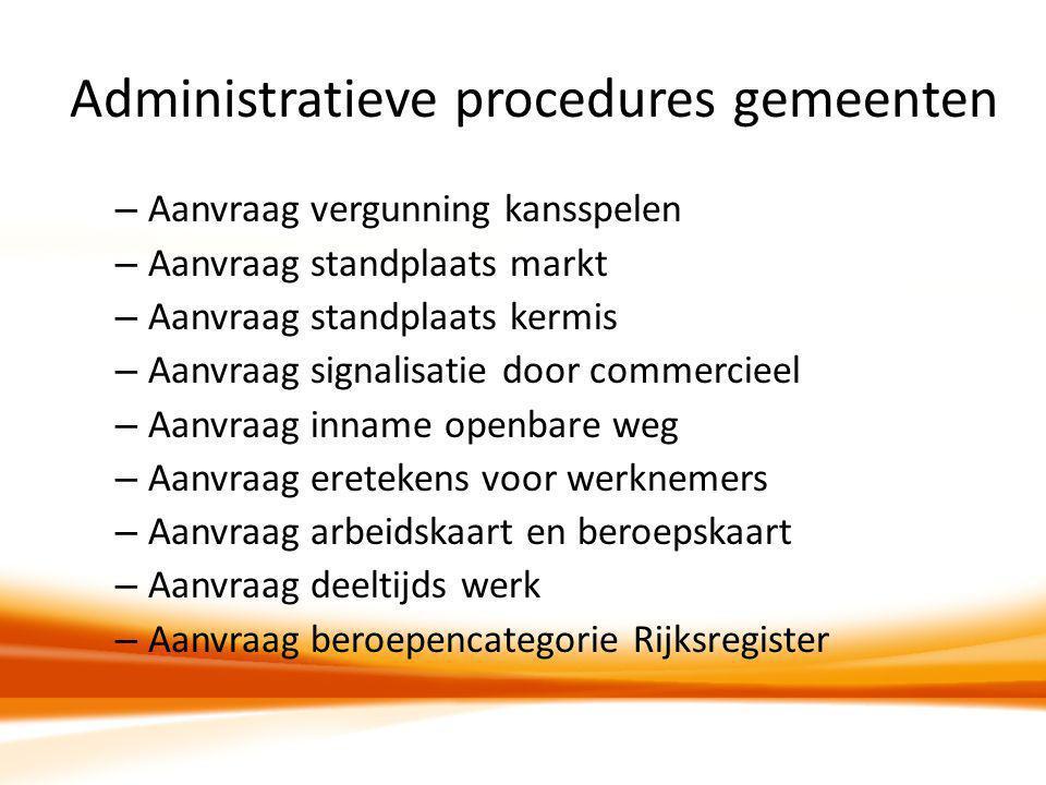 Administratieve procedures gemeenten