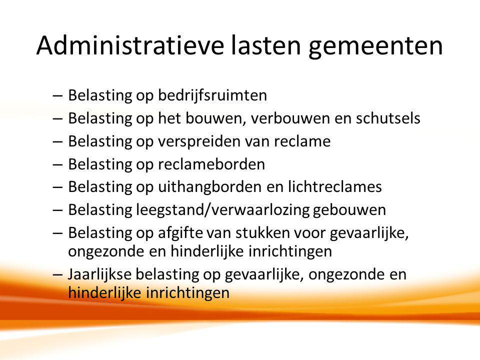 Administratieve lasten gemeenten