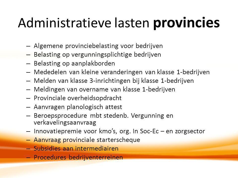 Administratieve lasten provincies