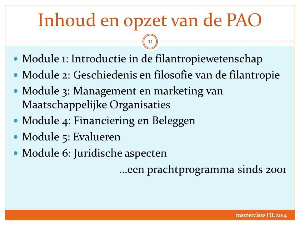 Inhoud en opzet van de PAO