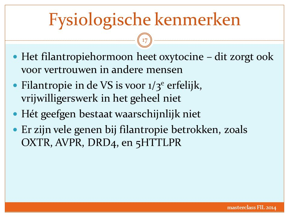 Fysiologische kenmerken