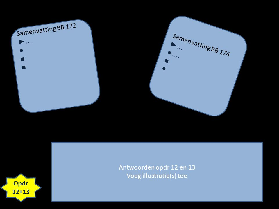 Antwoorden opdr 12 en 13 Voeg illustratie(s) toe