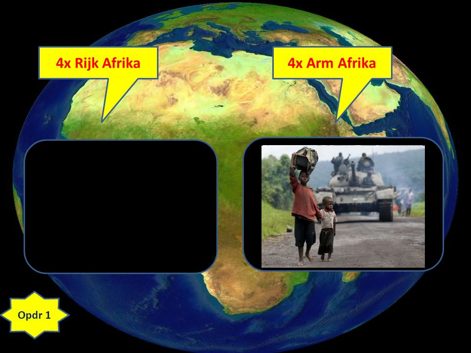 4x Rijk Afrika 4x Arm Afrika
