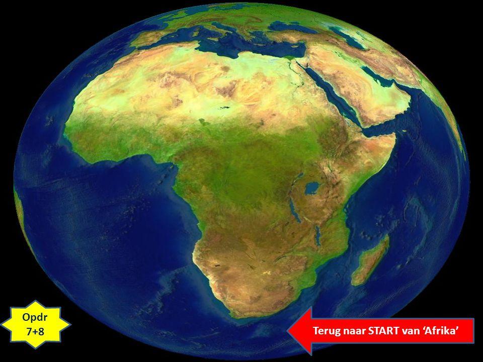 Terug naar START van 'Afrika'