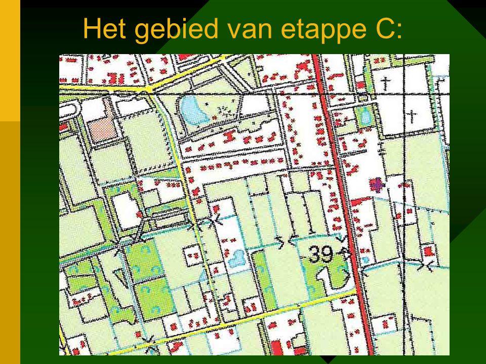 Het gebied van etappe C: