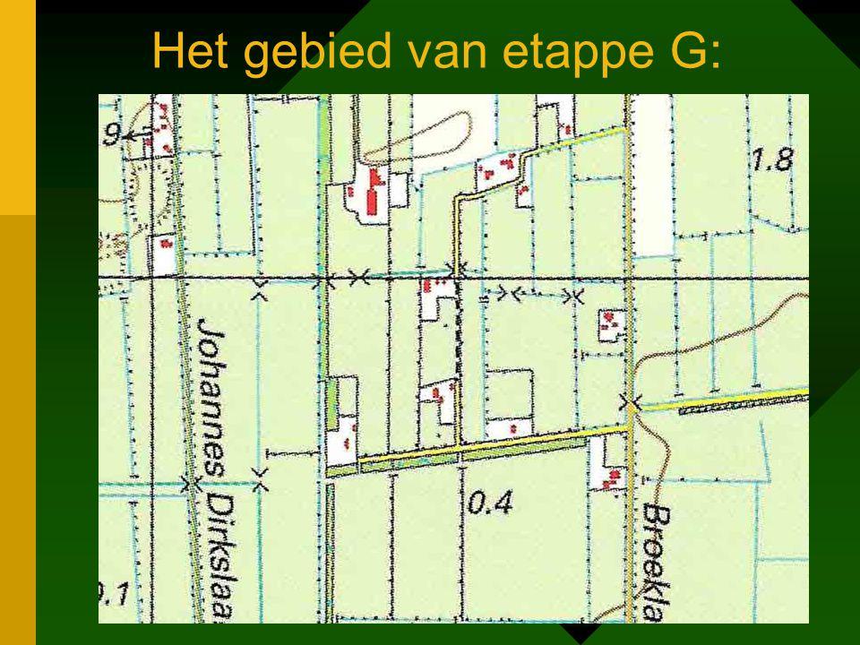 Het gebied van etappe G: