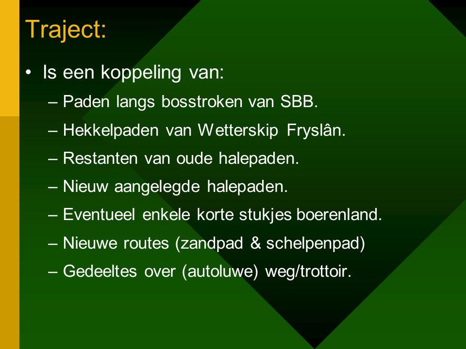 Traject: Is een koppeling van: Paden langs bosstroken van SBB.