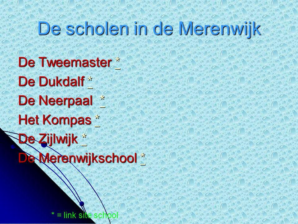 De scholen in de Merenwijk