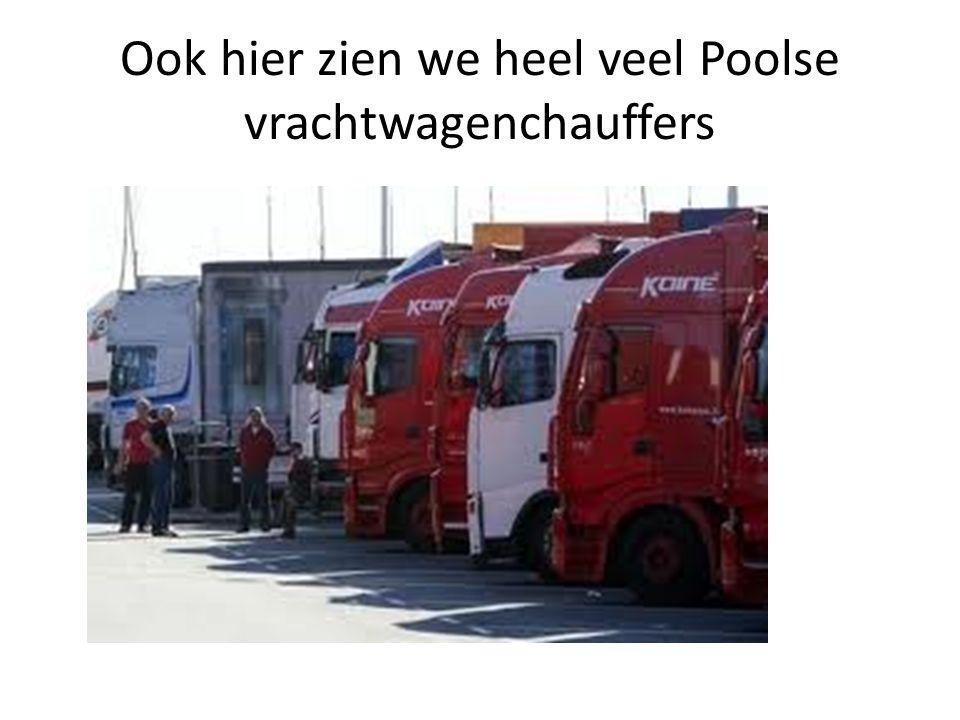 Ook hier zien we heel veel Poolse vrachtwagenchauffers