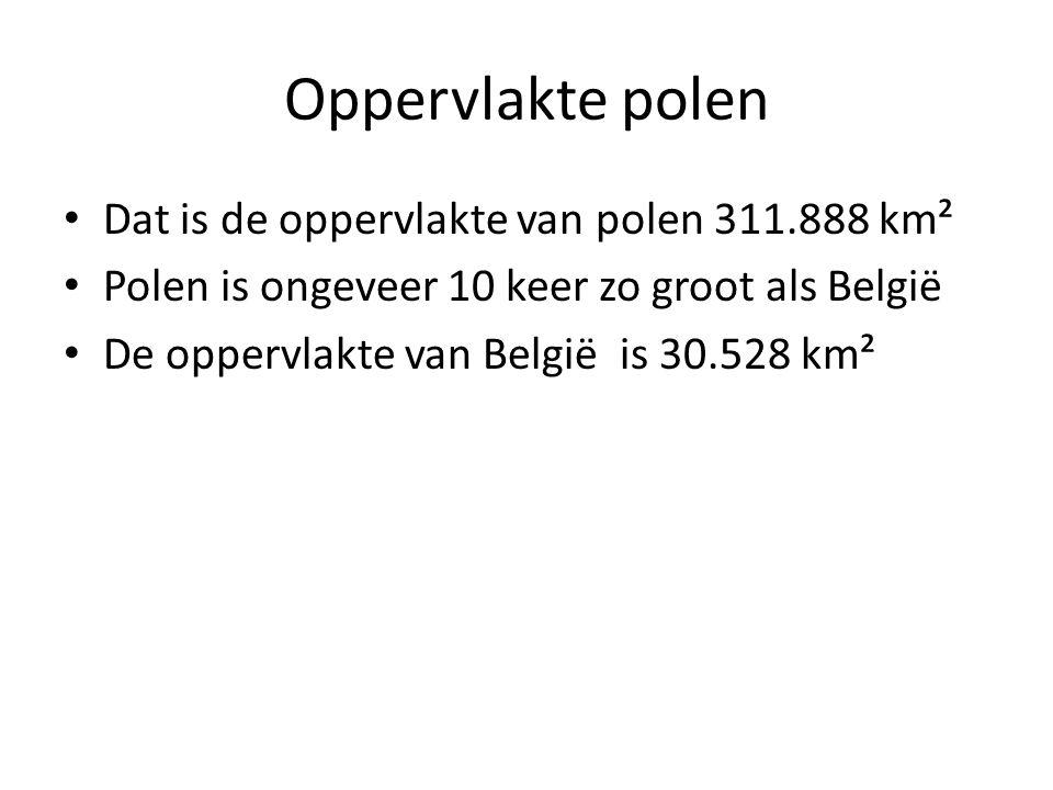 Oppervlakte polen Dat is de oppervlakte van polen 311.888 km²