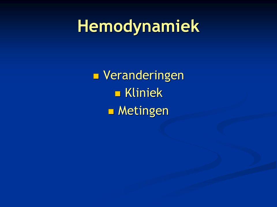 Hemodynamiek Veranderingen Kliniek Metingen