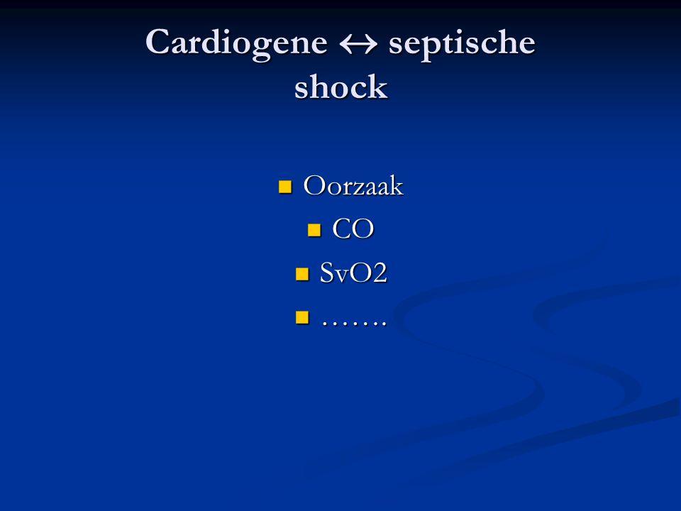 Cardiogene  septische shock