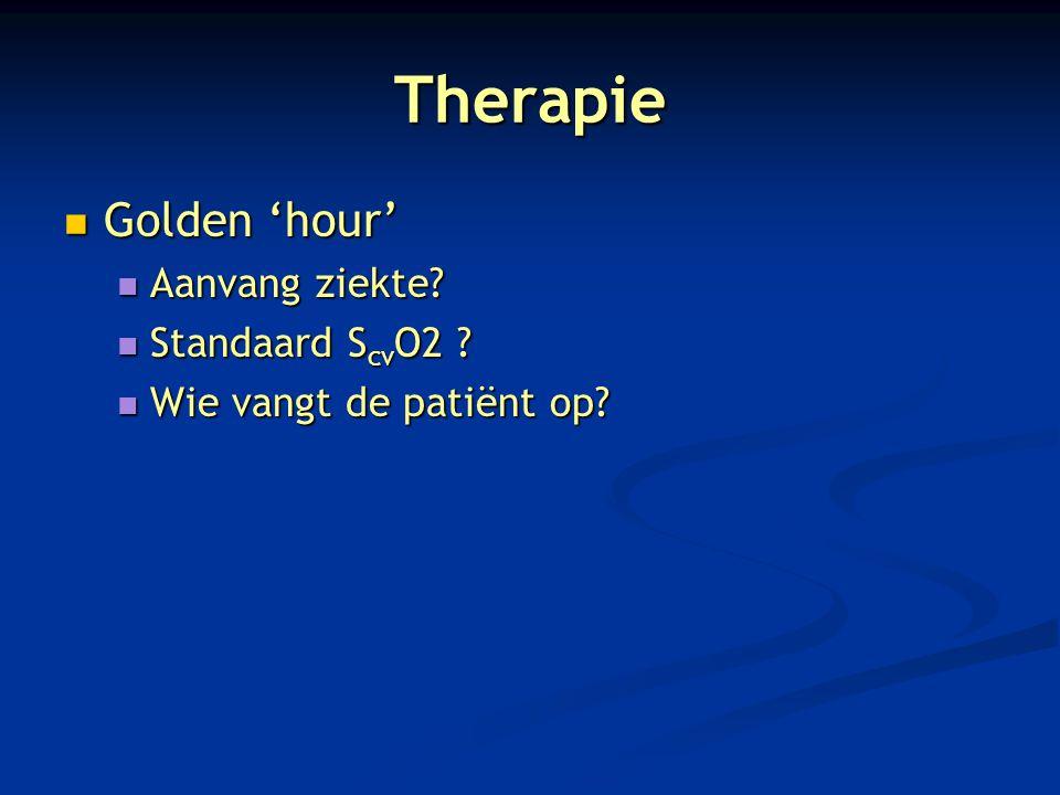 Therapie Golden 'hour' Aanvang ziekte Standaard ScvO2