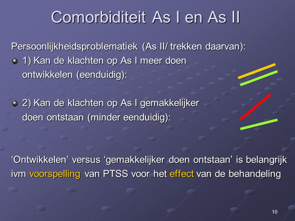 Comorbiditeit As I en As II