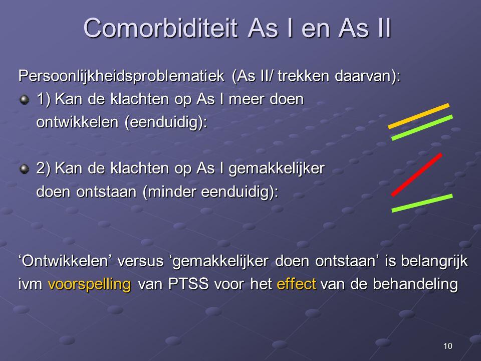 Comorbiditeit As I en As II