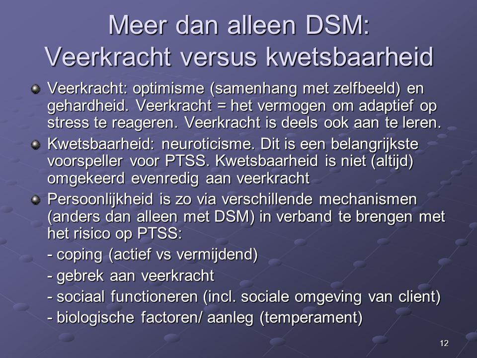 Meer dan alleen DSM: Veerkracht versus kwetsbaarheid