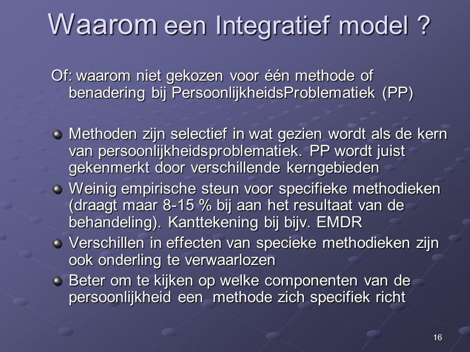 Waarom een Integratief model