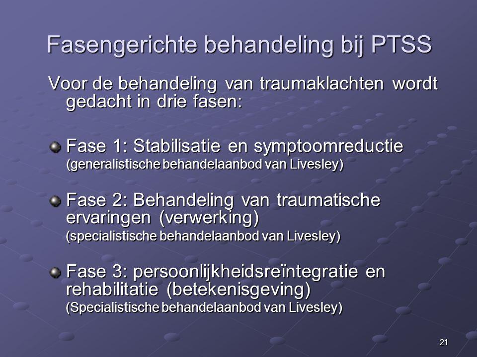 Fasengerichte behandeling bij PTSS