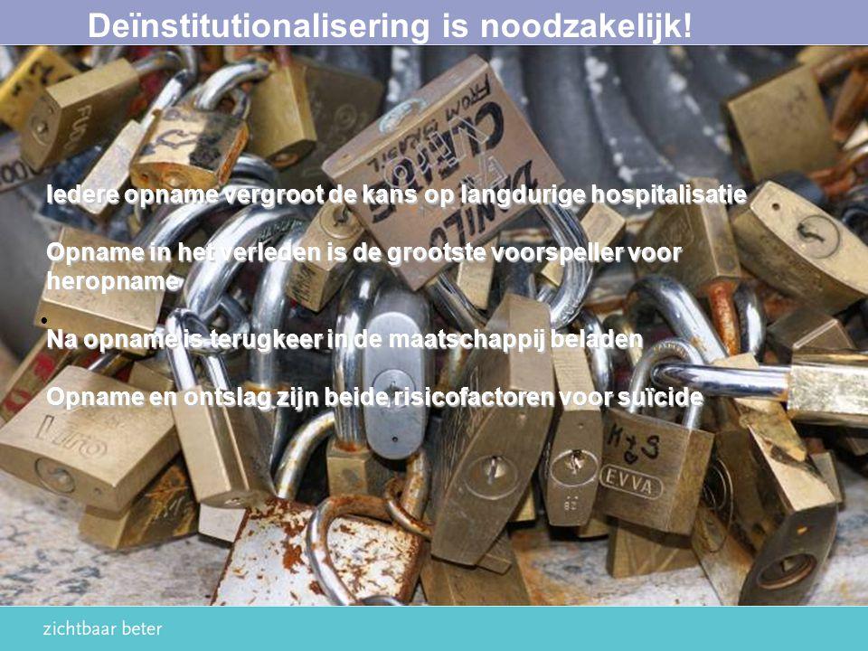 Deïnstitutionalisering is noodzakelijk!