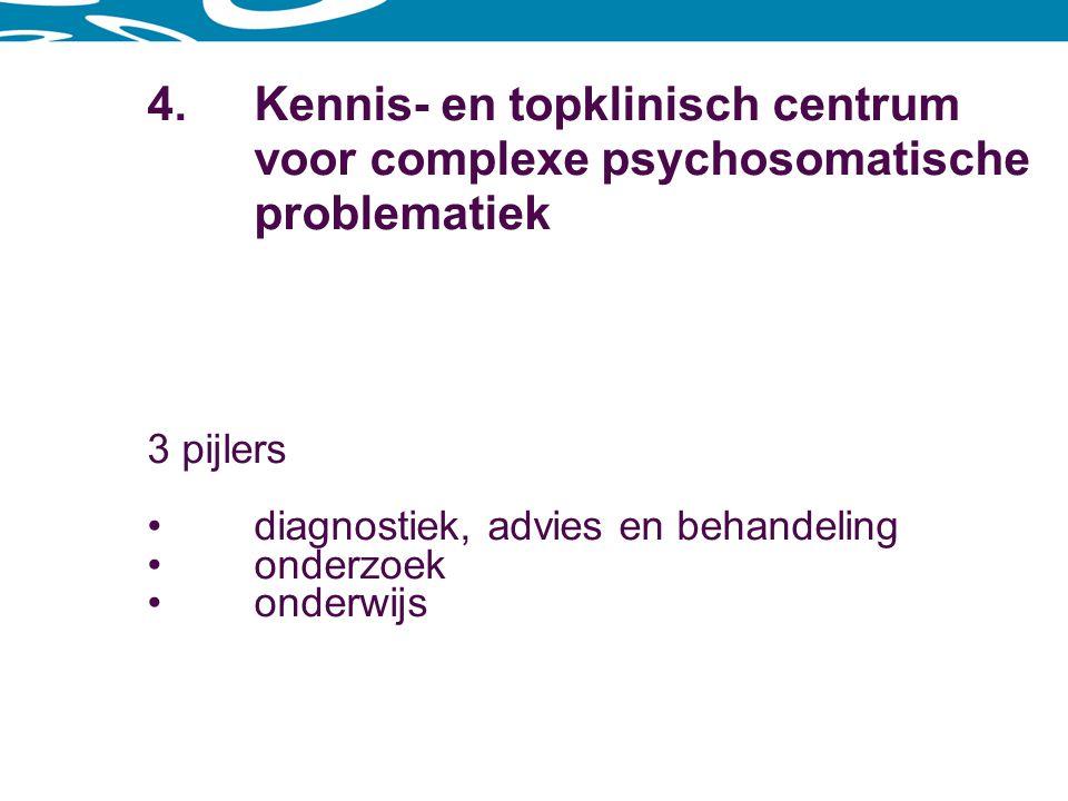 4. Kennis- en topklinisch centrum. voor complexe psychosomatische