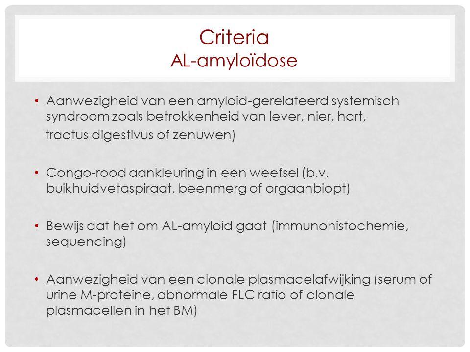 Criteria AL-amyloïdose